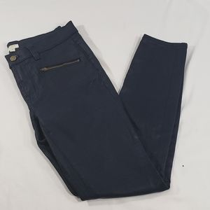 J. Crew Dark Blue Coated Shiny Skinny Jean Pants